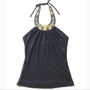 Tops - Halter Top w/ Embroidered Detail